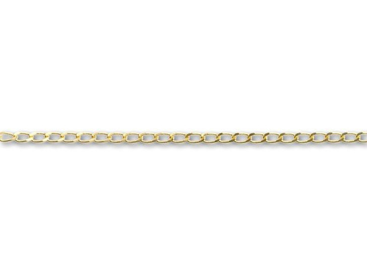 Gold-Plated Curb Chain by the Foot