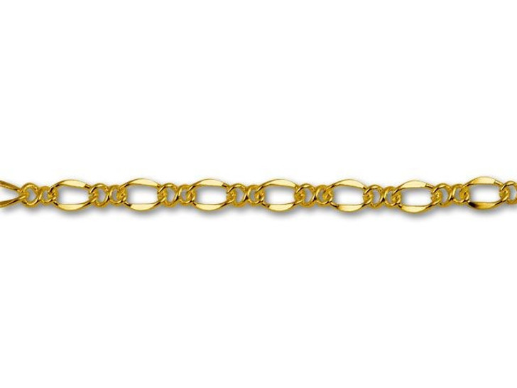 Gold-Plated Figaro Chain by the Foot