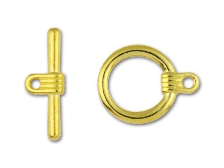 Gold-Plated Futurist Toggle Clasp