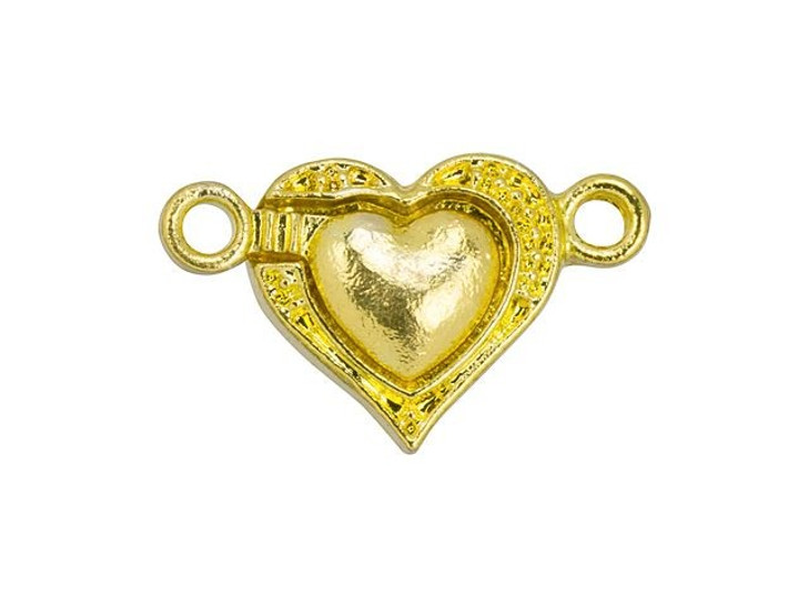 Gold-Plated Magnetic Heart Clasp