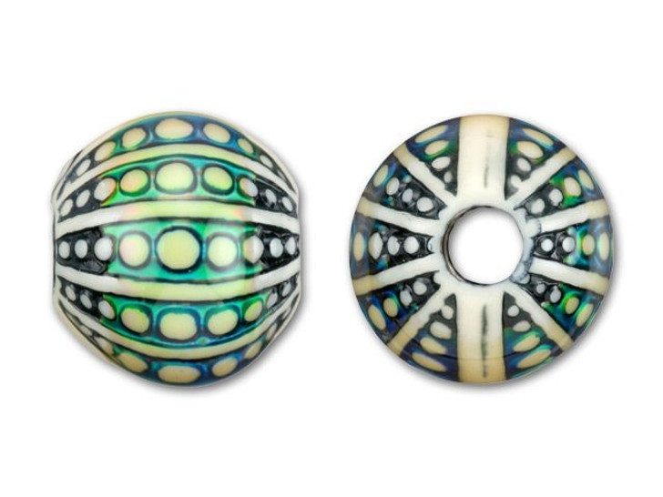 12x13mm Mirage Mood Sea Orb Bead