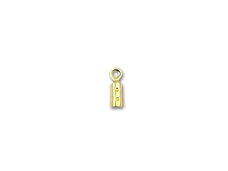 Gold-Plated Pewter Crimp End Cap with Loop