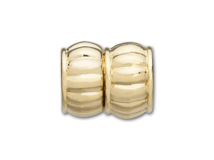 Gold-Plated Scallop Barrel Glue-In Magnetic Clasp