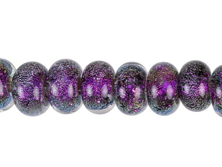 Grace Lampwork Amethyst Dichroic Spacer Bead Strand (10 pcs)