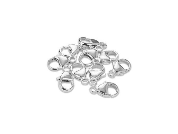 13.1mm Oval Triger Clasp - 925 Silver Bulk Pack (10 Pcs)