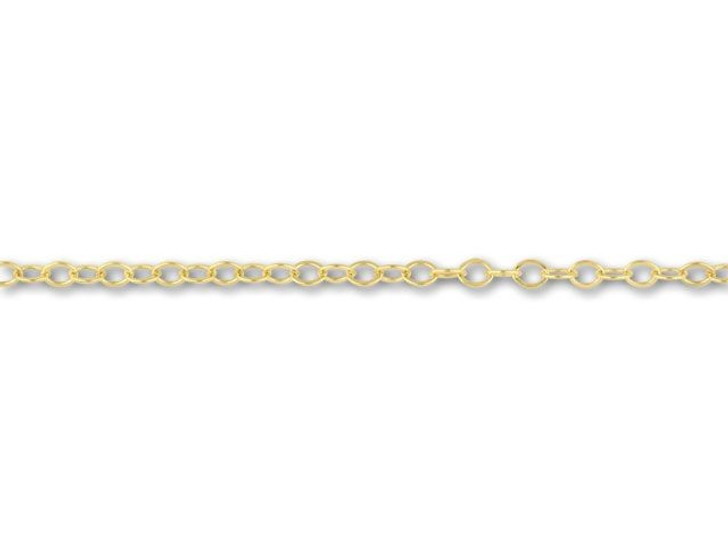 1318 Gold-Filled Flat Cable Chain by the Foot