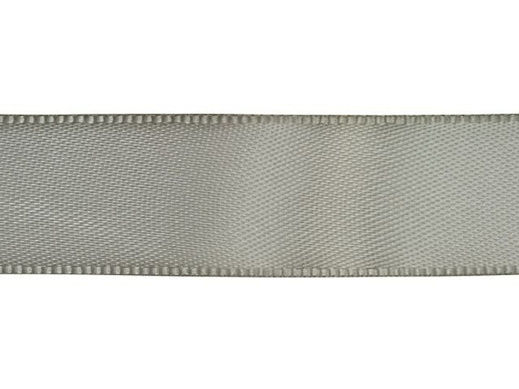 Gray 5/8 Inch Satin Ribbon By the Foot