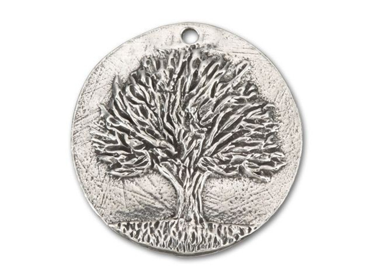 Green Girl Studios Pewter Knowledge Tree Coin Pendant