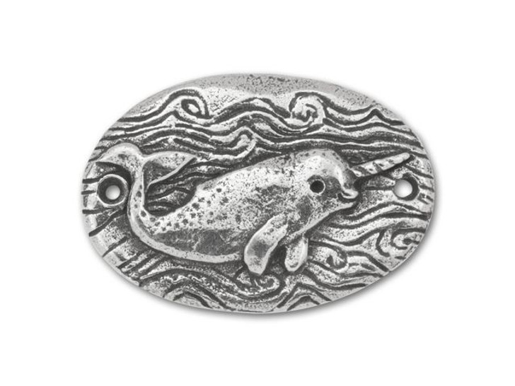 Green Girl Studios Pewter Magical Narwhal Link