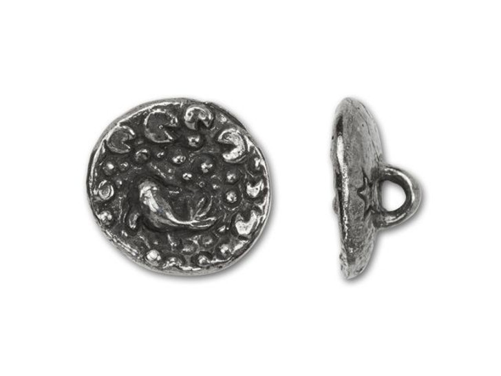 Green Girl Studios Pewter Small Round Koi Button