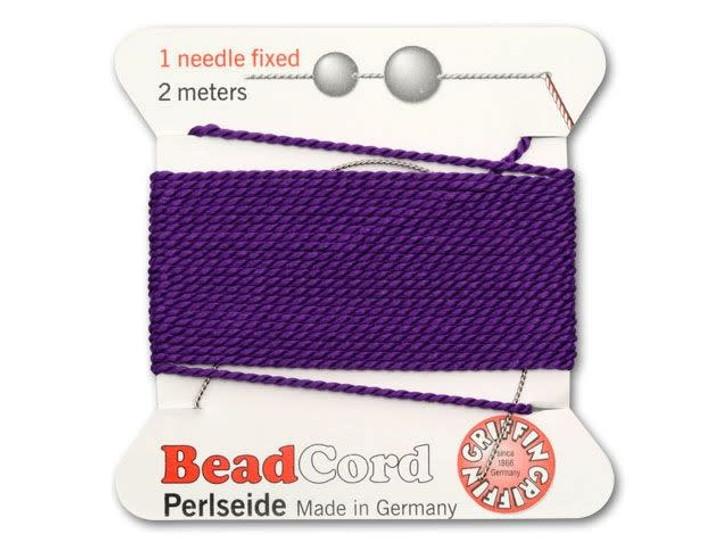 Griffin Bead Cord 100% Silk - No. 10 (0.90mm) Amethyst