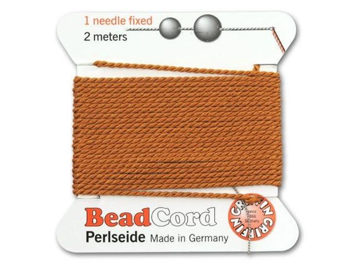 Griffin Bead Cord 100% Silk - No. 12 (0.98mm) Cornelian