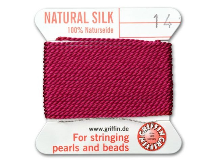 BROWN SILK STRING THREAD 1.02mm FOR STRINGING PEARLS /& BEADS GRIFFIN SIZE 14