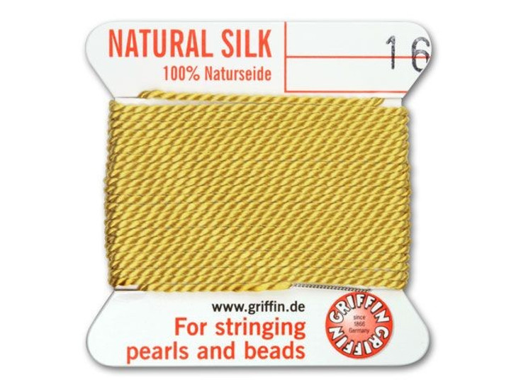 Griffin Bead Cord 100% Silk - No. 16 (1.05mm) Amber