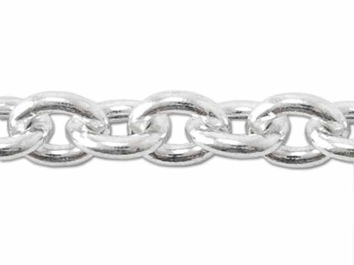 140 Sterling Silver Cable Chain by the Foot
