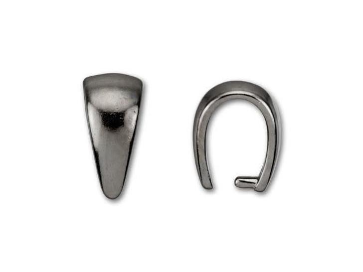 Gunmetal-Plated Small Plain Pinch Bail