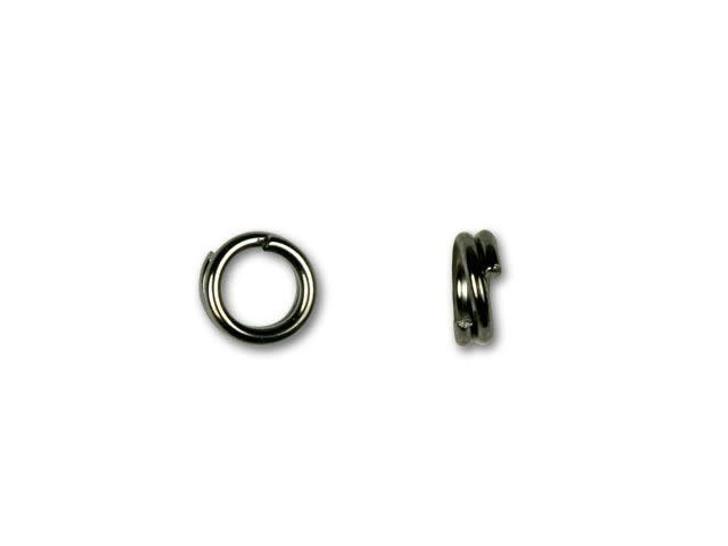 Gunmetal-Plated Split Ring 5mm