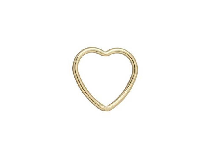Gold-Filled 14K/20 10mm Closed Heart Jump Ring