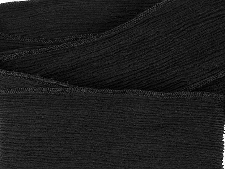 Hand-Dyed Black Super Silk Wrap