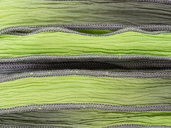 Hand-Dyed Blimey Mate Green and Steel Grey Silk Ribbon with Grey Edges