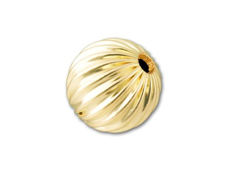 Gold-Filled 14K/20 10mm Round Corrugated Bead