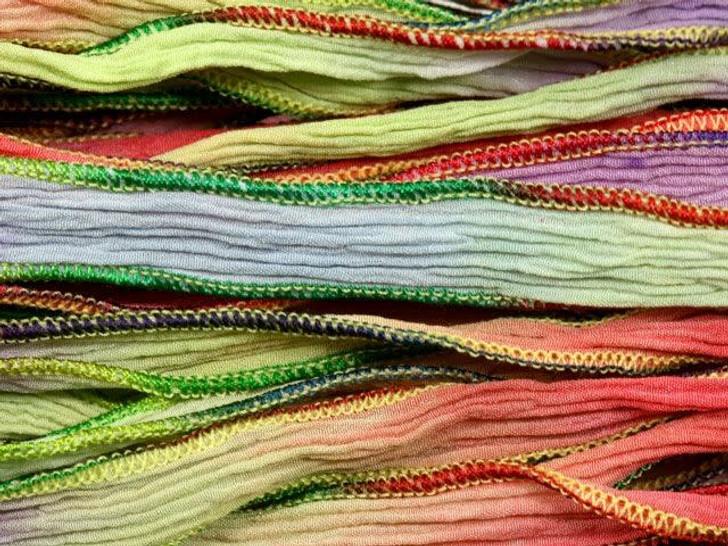Hand-Dyed Silk Ribbon Hawaiian Blend (32-36 Inches)