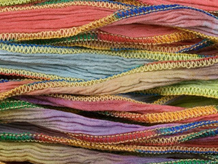 Hand-Dyed Silk Ribbon Navajo Primary Blend (32-36 Inches)