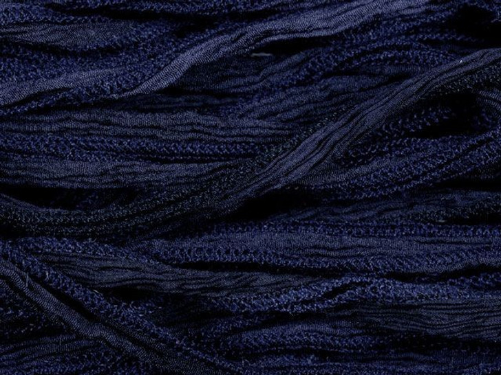 Hand-Dyed Silk Ribbon Navy Blue (32-36 Inches)