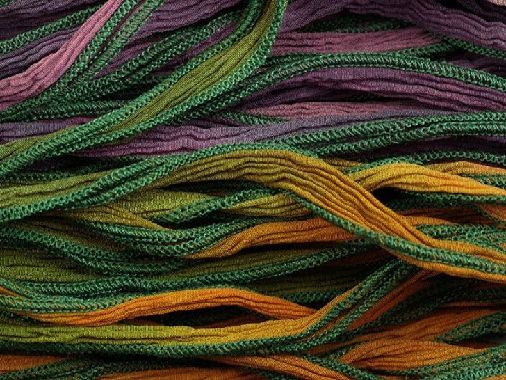 Hand-Dyed Silk Ribbon Regal Robes Blend (32-36 Inches)