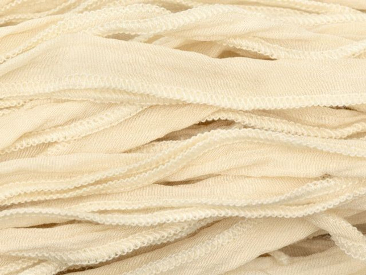 Hand-Dyed Silk Ribbon Sand (32-36 Inches)