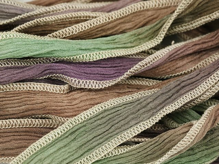 Hand-Dyed Silk Ribbon Tucson Desert Blend (32-36 Inches)