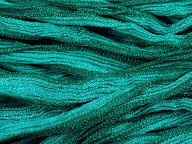 Hand-Dyed Silk Ribbon Turquoise (32-36 Inches)