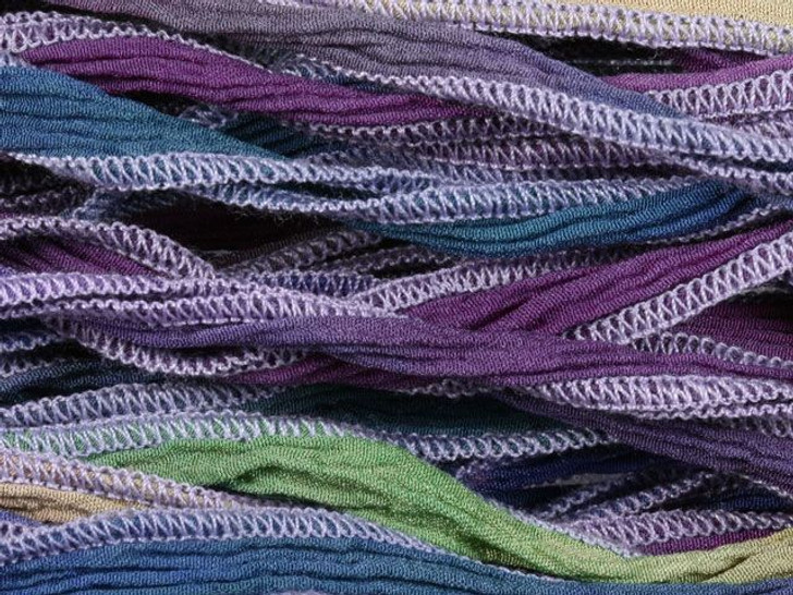 Hand-Dyed Silk Ribbon Vintage Mix (32-36 Inches)