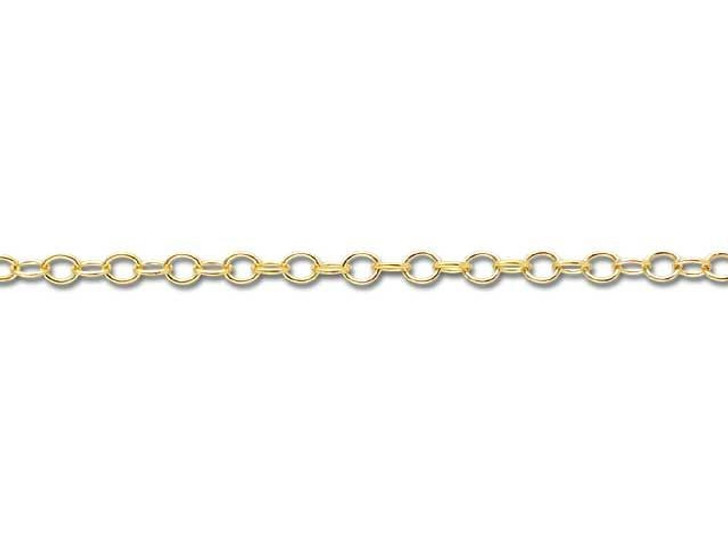 Gold-Filled 14K/20 1318 Cable Chain by the Foot