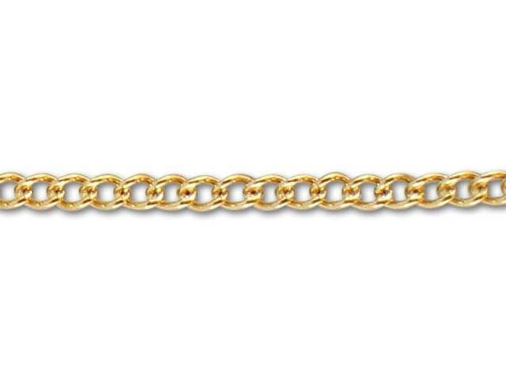 Gold-Filled 14K/20 1322 Curb Chain(1.5mm) by the Foot