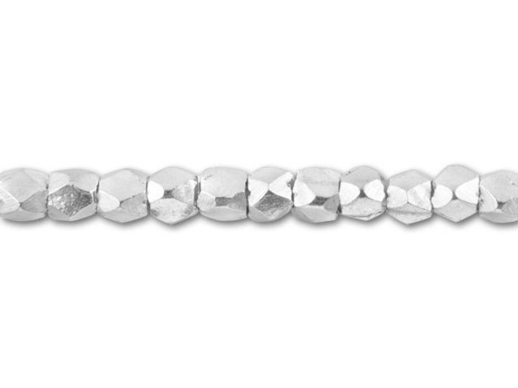Hill Tribe Silver Faceted Spacer Strand