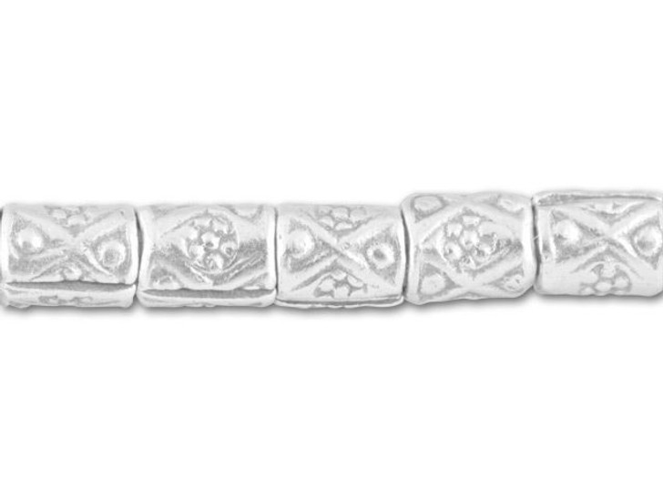 Hill Tribe Silver Fancy Stamped Tube Spacer Strand