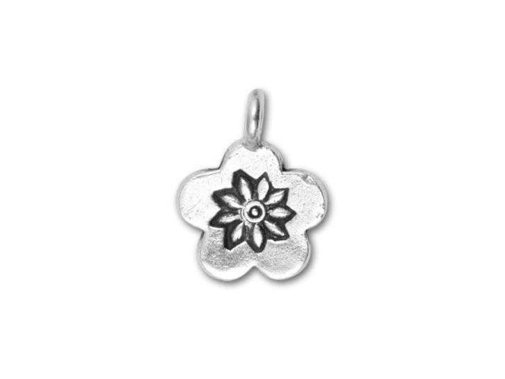 Hill Tribe Silver Flower Drop