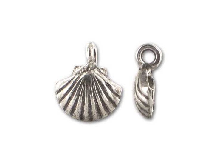 Hill Tribe Silver Half-clam Shell Charm