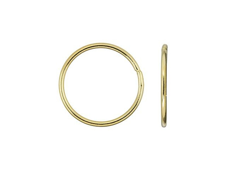 Gold-Filled 14K/20 15mm 18 gauge Closed Round Jump Ring
