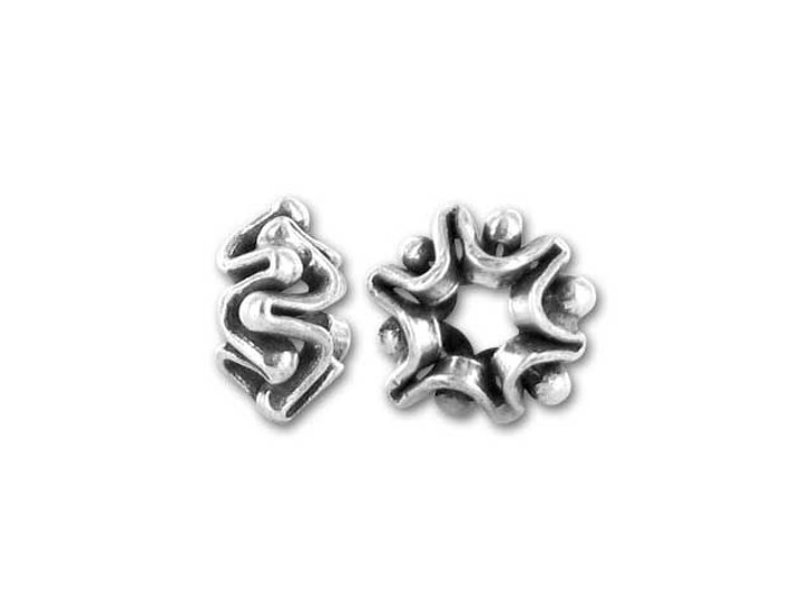 Hill Tribe Silver Hill Tribes Silver Granulated Bead Spacer