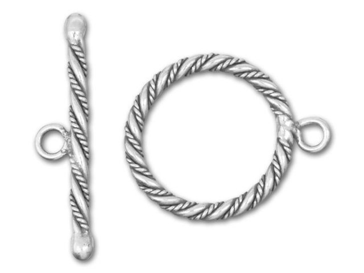 Hill Tribe Silver Large Fancy Twist Toggle Clasp