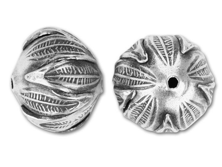Hill Tribe Silver Leaf Round Bead