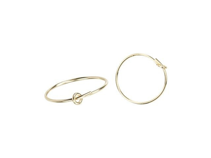 Gold-Filled 14K/20 15mm Wire Beading Hoop (Pair)