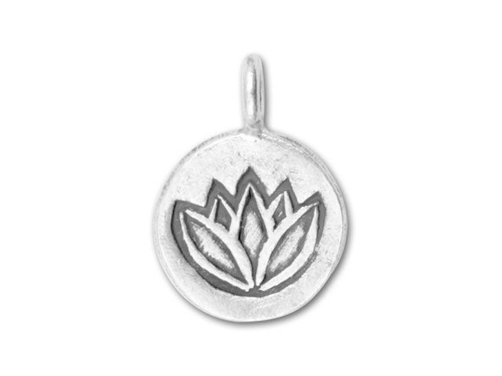Hill Tribe Silver Lotus Round Pendant