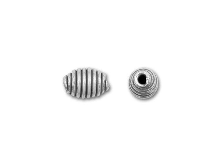 Hill Tribe Silver Small Coiled Bead