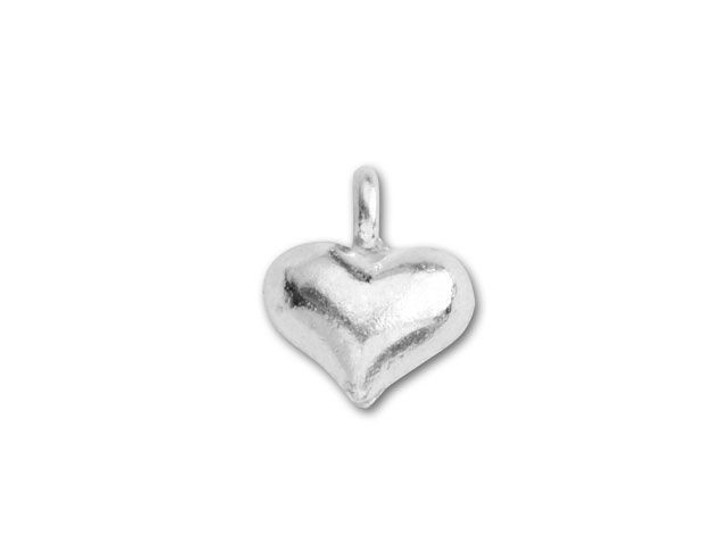 Hill Tribe Silver Small Puffed Heart Pendant