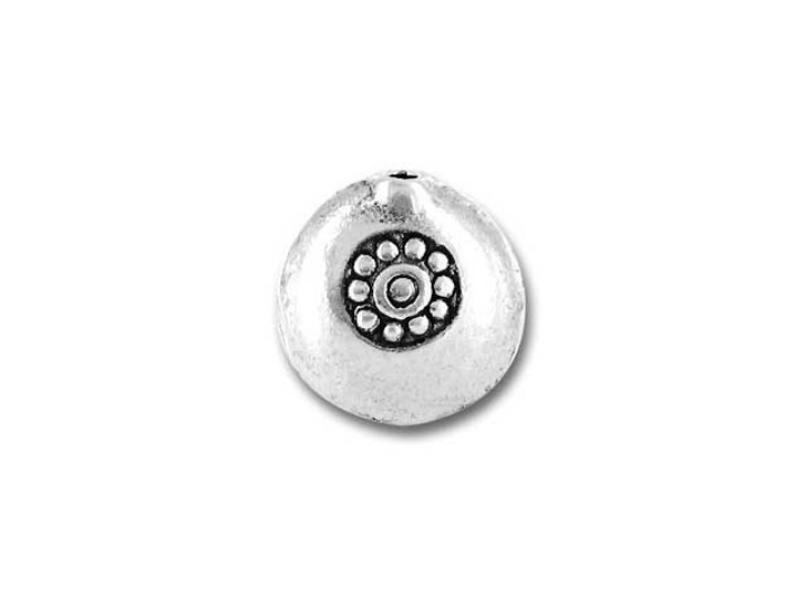 Hill Tribe Silver Stamped Flower Disc Bead