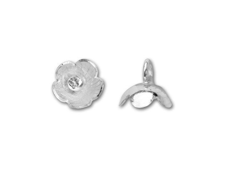 Hill Tribe Silver Tiny Bell Flower Charm