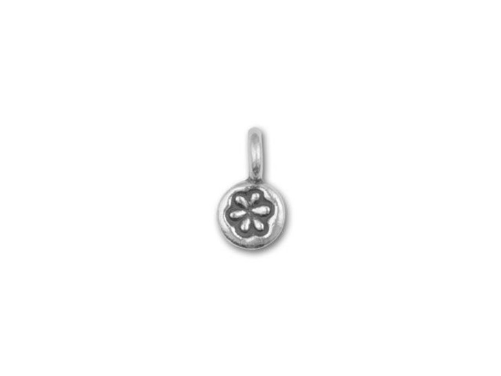 Hill Tribe Silver Tiny Flower Stamped Charm